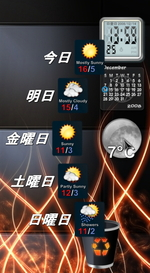 ObjectDock 天気予報1