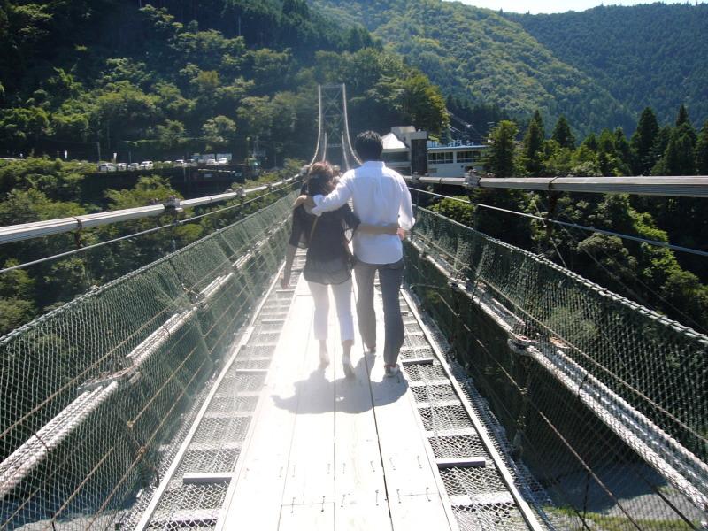 谷瀬の吊り橋9